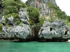 Kayaking around Railay