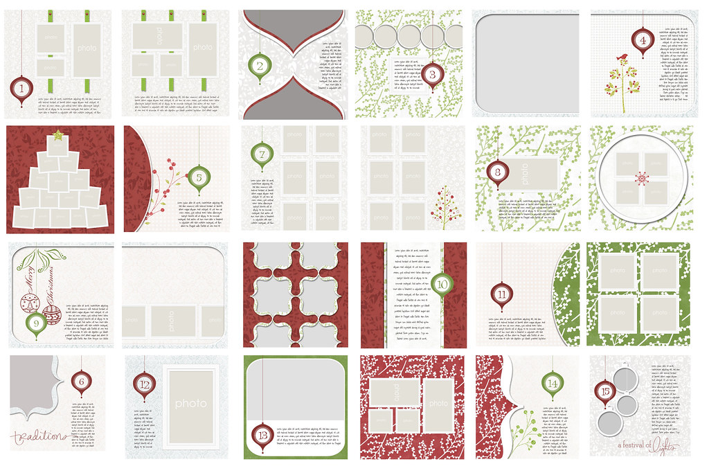December Daily 2011 Digital Templates