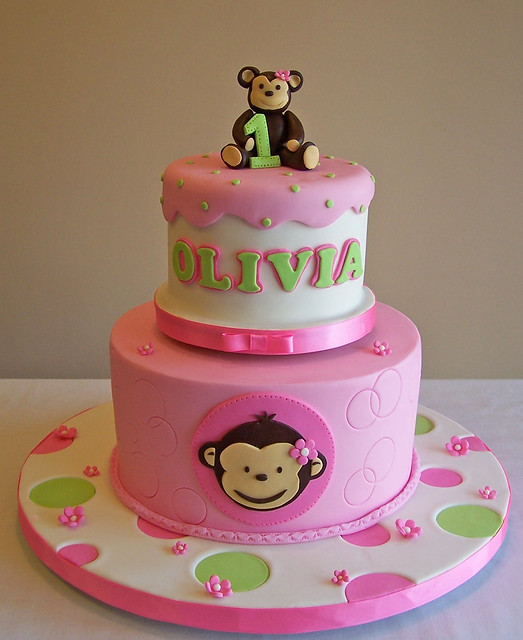 Mod Monkey Cake Decorations