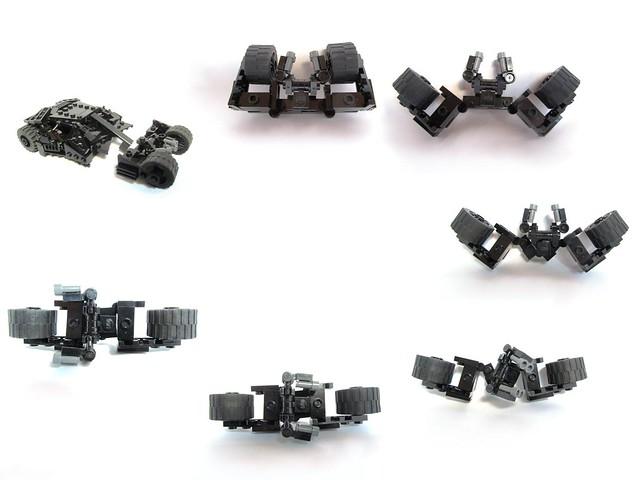 Moc Batmans Tumbler With Batpod Transformation Lego Licensed