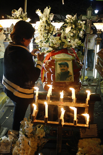 Coffin of one of the El Santa victims