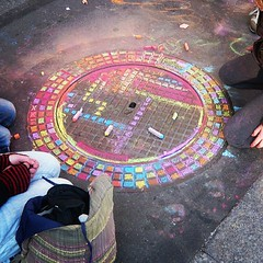 Chalk Mandala #occupyparadeplatz #zurich #occupy