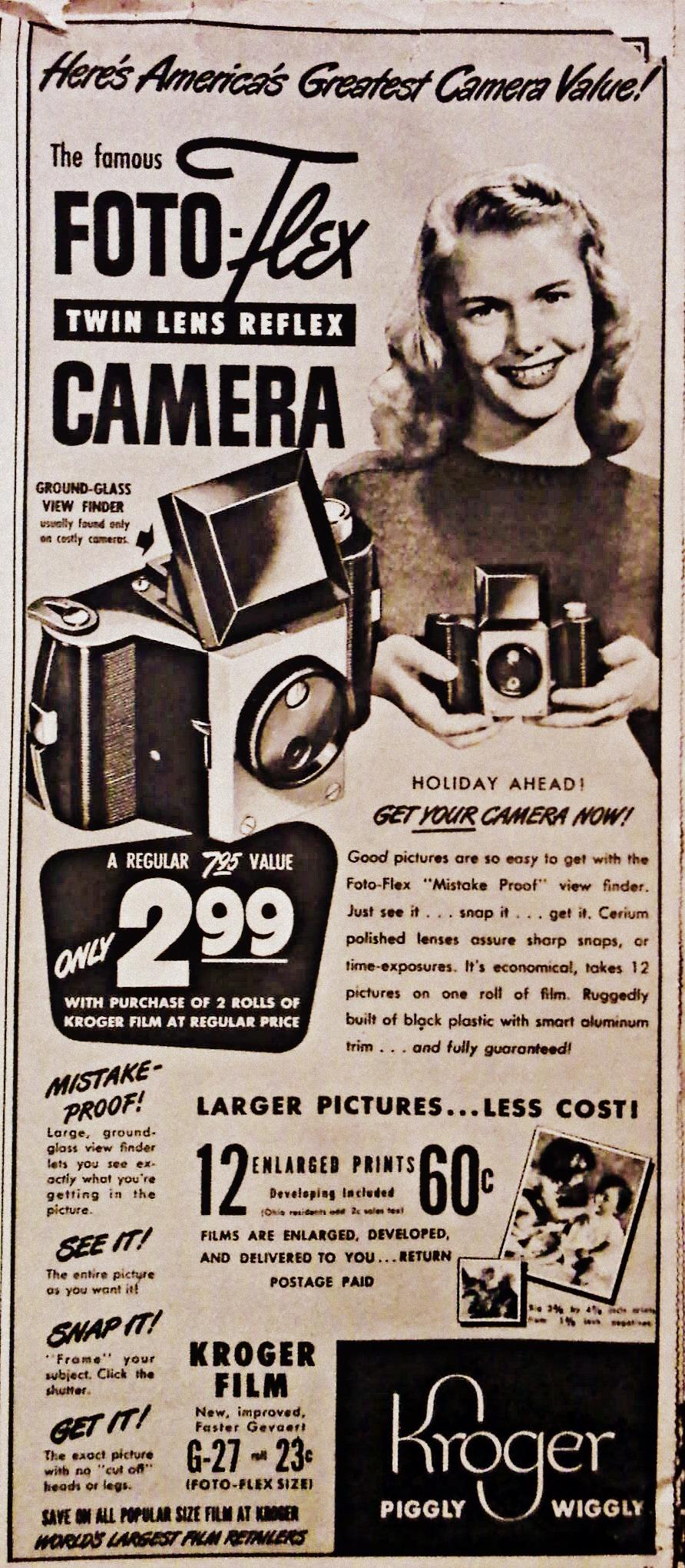Foto-Flex Camera-Kroger Piggly Wiggly 1947