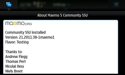 About Maemo5 CSSU Ver.21.2011.38-1maemo1