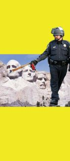 Pepper Spray Can Cop vs. Mt. Rushmore