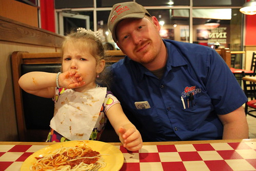 Celebrating Chey's 3rd Birthday at Pizza Inn