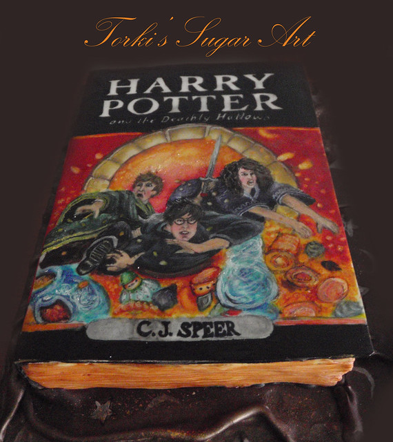 Harry Potter Book Cover Maker ~ Harry potter and the deathly hallows cake flickr photo