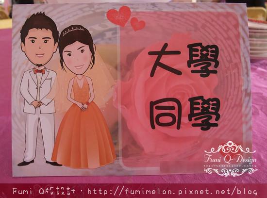 Kimi & Kelly_Q版婚紗應用(桌牌)