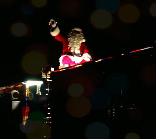 christmas firetruck santa