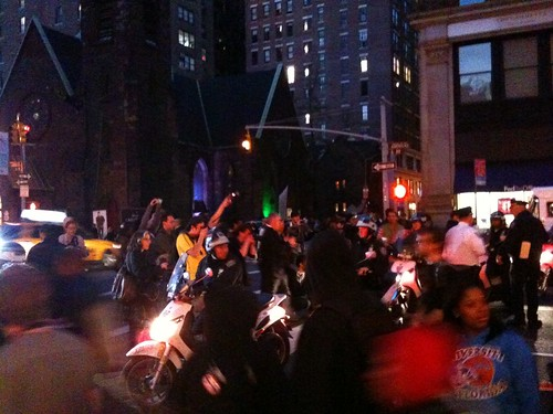 At the Million Hoody rally & march for Trayvon Martin