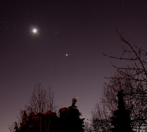 Moon, Venus and Jupiter