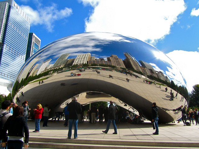 "Millennium Park, Cloud Gate, ""The Bean,"" Chicago"