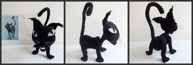 Amigurumi To Go Coraline : Crochet Cat inspired by Coraline Flickr - Photo Sharing!