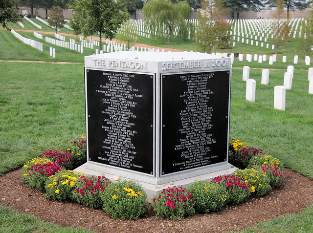 Arlington National Cemetery - 9-11 Memorial to Pentagon Victims - SW side - 2011