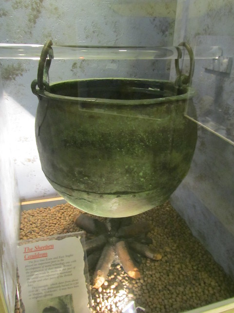 UK - Essex - Colchester - Castle Museum - Sheepen Cauldron