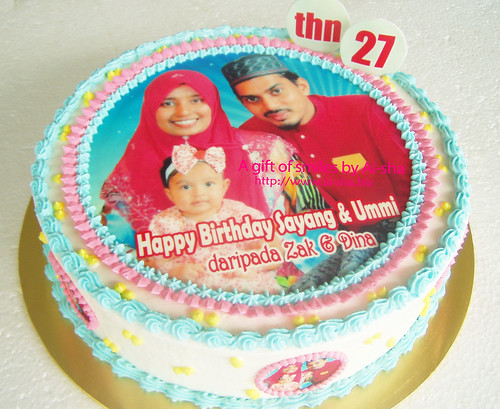 Edible Image Cake Kl : Birthday Cake Edible Image Family picture Aisha Puchong ...