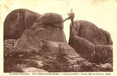 1630. Toulx-Sainte-Croix. Pierres Jaumâtres. Tarann, dieu du Tonnerre (c.1930)