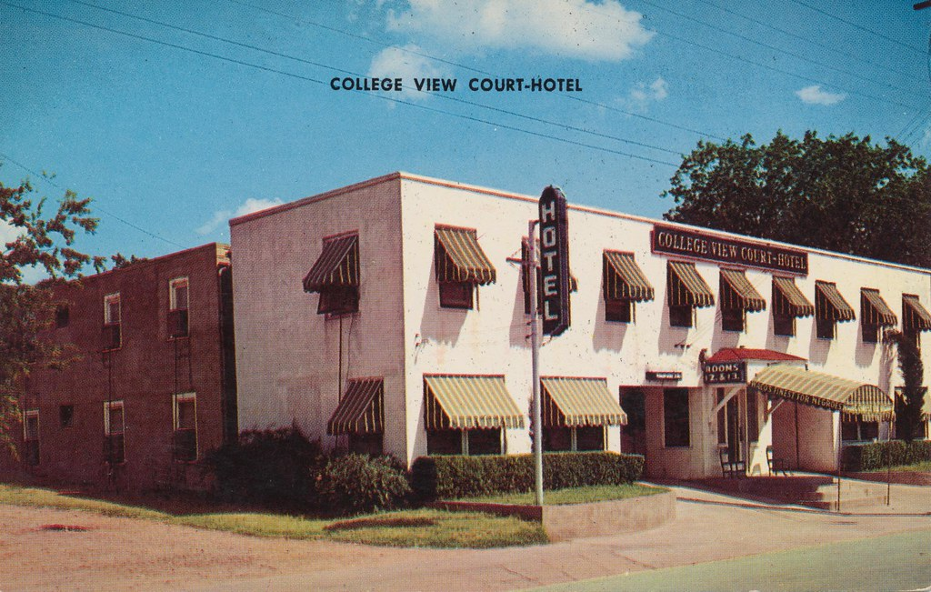 vintage court hotel texas waco postcard motel collegeview
