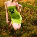 Minecraft creeper latex dress by Katie Sandstrom