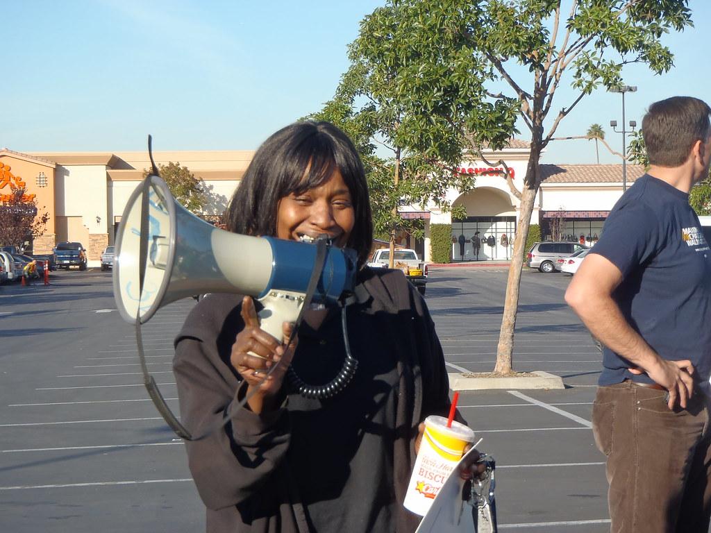 Paramount, California Walmart rally 10.28.11