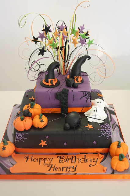 halloween 1st birthday cake