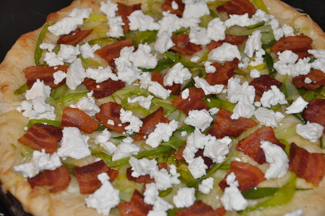 Pizza - Leek, Bacon, Goat Cheese