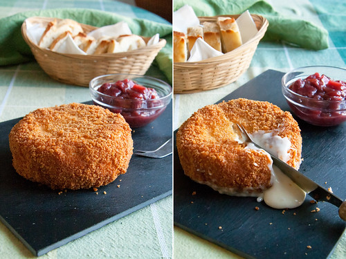 Deep Fried Brie w/ Cranberry Chutney