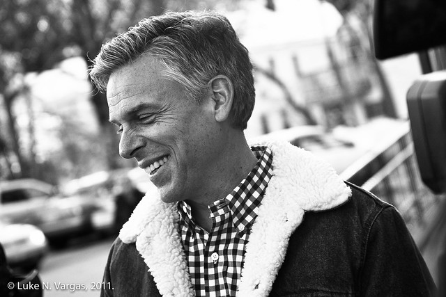 Huntsman Interviewed, Smiling