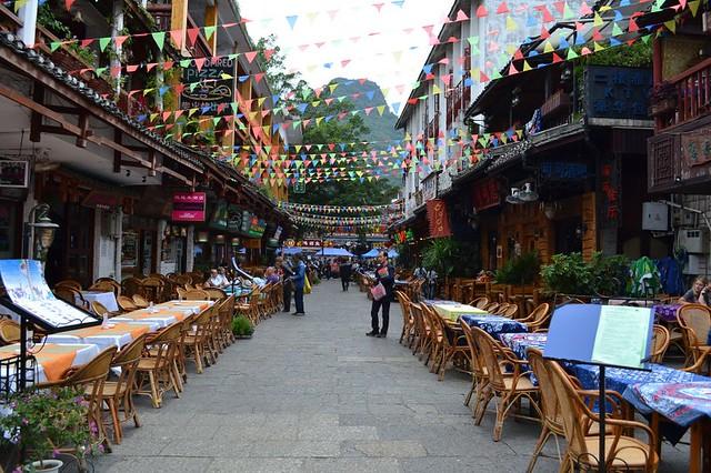 West Street view, Yangshuo