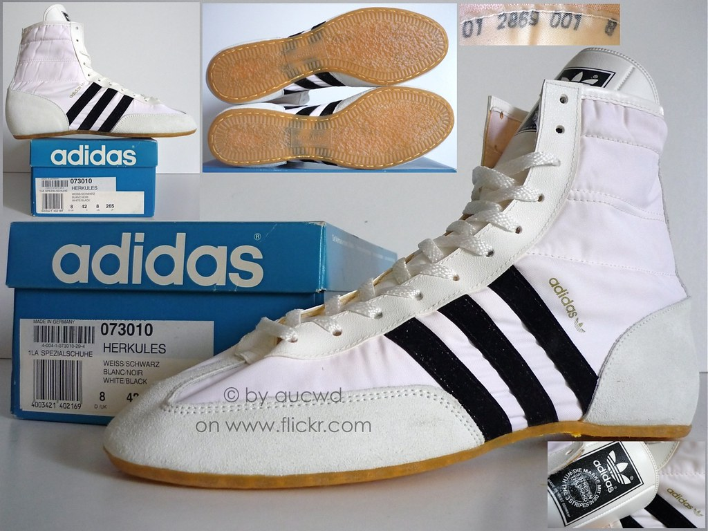 quality design 855ff 311d4 NEW 80`S VINTAGE ADIDAS HERKULES WRESTLING HI SHOES   by aucwd