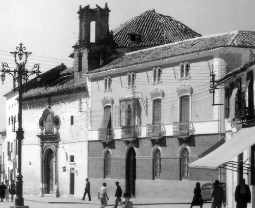 Palacete de la Familia Funes, junto a San Juan de Dios, hoy desaparecidas.