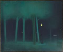 Un Parc la nuit, c.1892-1895, by Jozsef Rippl-Ronai