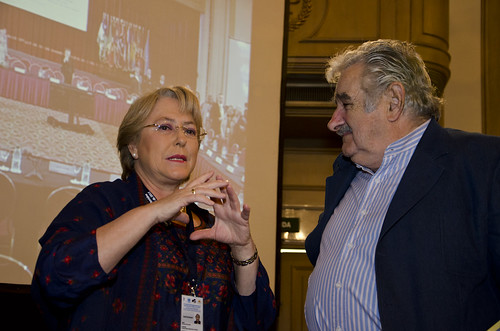Michelle Bachelet with the President of Uruguay