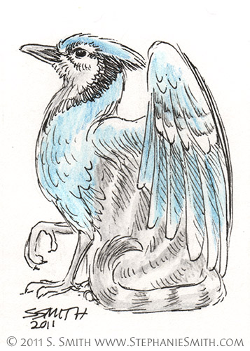 Tiny Grypons #2 Blue Jay by Stephanie Smith