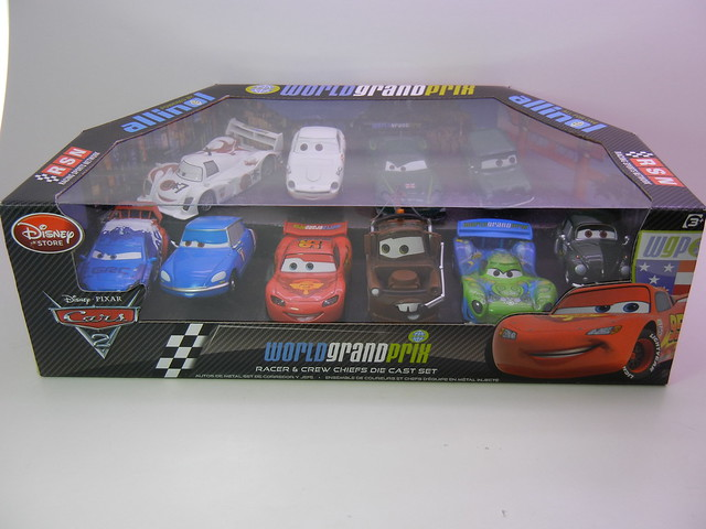 disney store cars 2 world grand prix racer crew chief diecast set 1 flickr photo sharing. Black Bedroom Furniture Sets. Home Design Ideas