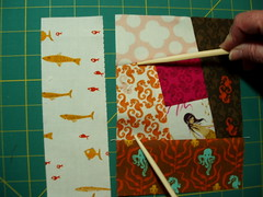 Wonky Log Cabin Block - step 8