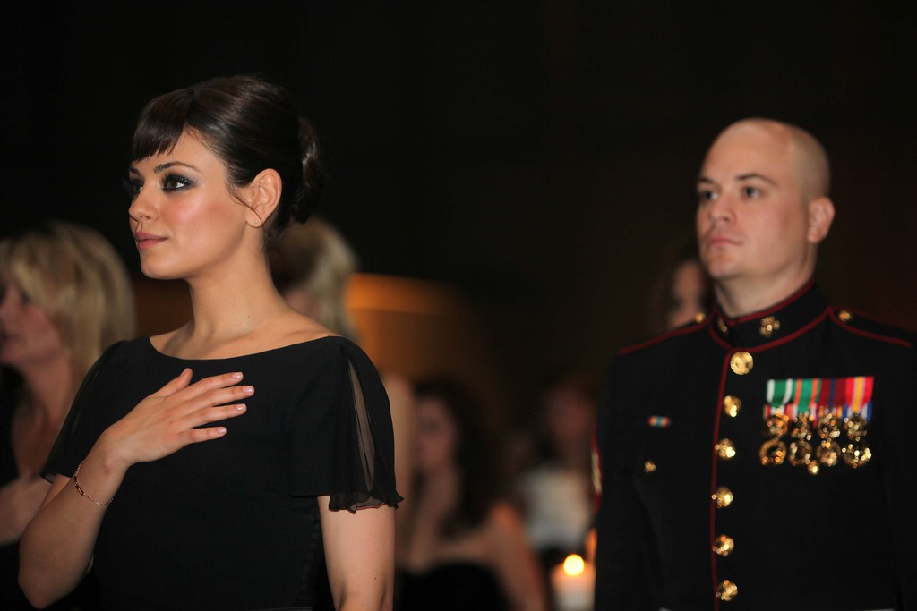 Marine takes actress Mila Kunis to birthday ball [Image 2 of 2]