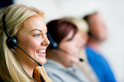 An operative in a Contact Centre.