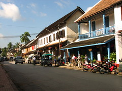 French colonial architecture in Luang Prabang, Laos