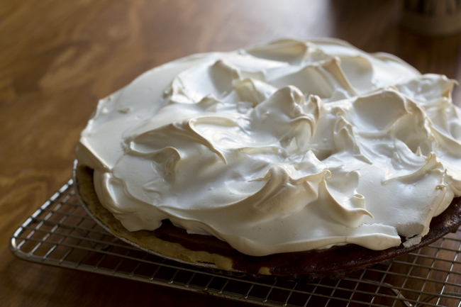 cardamom meringue pumpkin pie