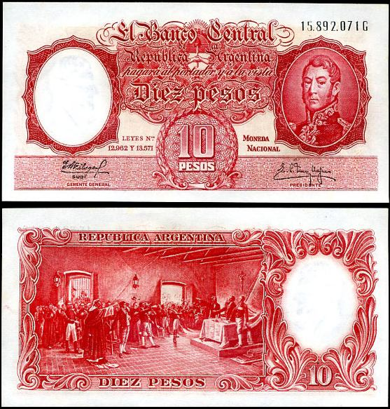 1 Peso Argentína 1961, Pick 270c