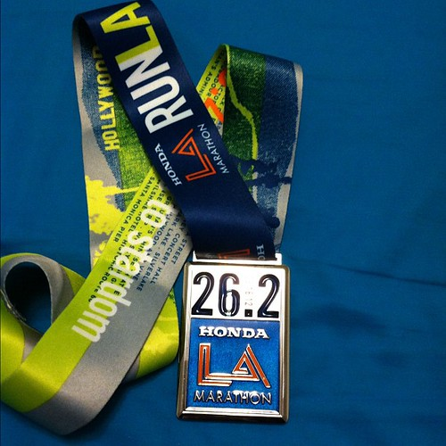 LA Marathon 2012 medal