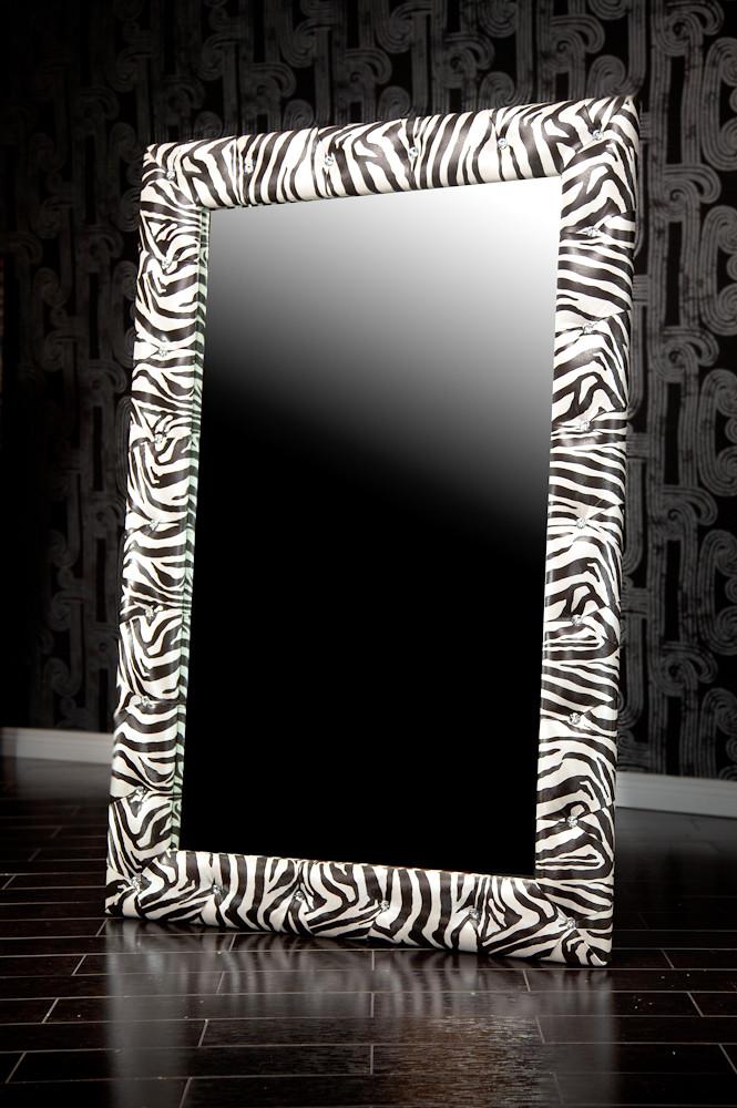 Mirrors diva rocker glam for Miroir zebre
