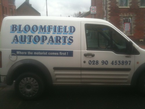 vehicle graphics on bloomfield autoparts van