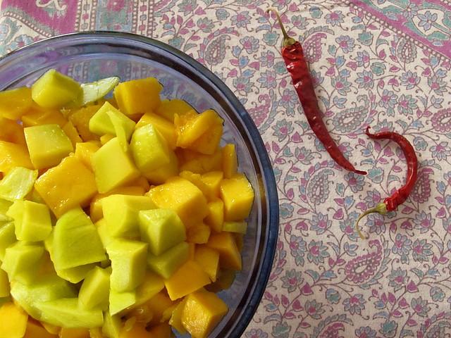 mangoes.