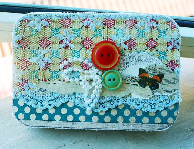 Upcycled box using scraps