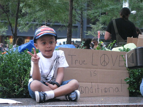 Peace Child at Occupy Wall Street by PeaceCouple