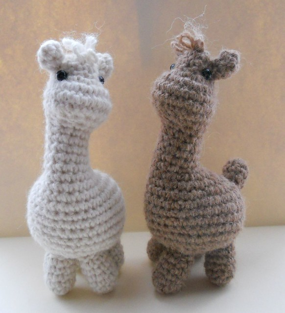 Amigurumi Wool : Amigurumi Alpacas Crocheted in pure alpaca yarn. Made ...
