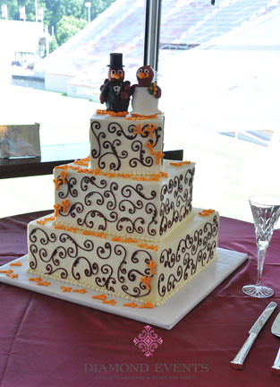 Virginia Tech Hokie Bird Wedding Cake