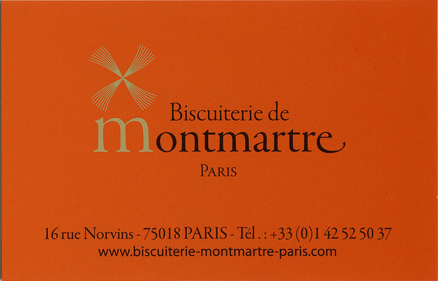 ephemera - Biscuiterie de Montmartre business card
